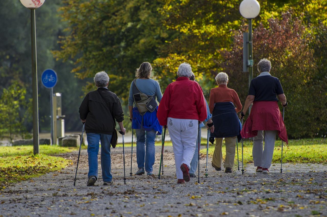 Nordic Walking bei Senioren